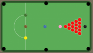 Flash-игра Snooker — 2 игрока, 1 компьютер.