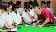 Стюарт Бинэм, Марк Джойс и Кирен Уилсон посетили снукерную школу в Шанхае