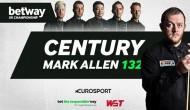 Марк Аллен сделал брейк в 132 очка в первом раунде Чемпионата Великобритании 2020