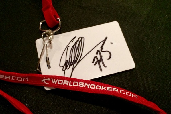 Win Ronnie's Signed Masters Pass!