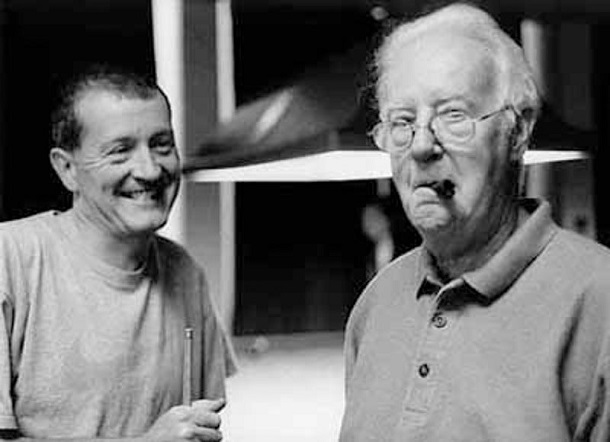 Стив Дэвис со своим отцом Биллом