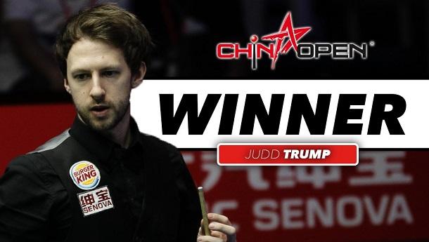 Джадд Трамп - победитель China Open 2016