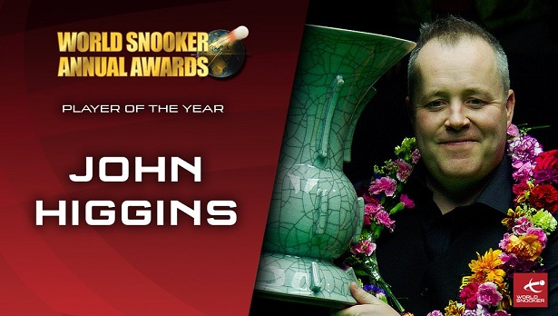 Джон Хиггинс победил в номинации Player of the Year