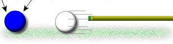 Удар, внимание глаз остается на прицельном шаре (конечной точке)
