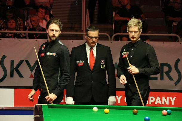 Джадд Трамп и Нил Робертсон (фото: World Snooker)