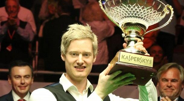 Нил Робертсон - чемпион Рига Мастерс 2016 (фото: World Snooker)