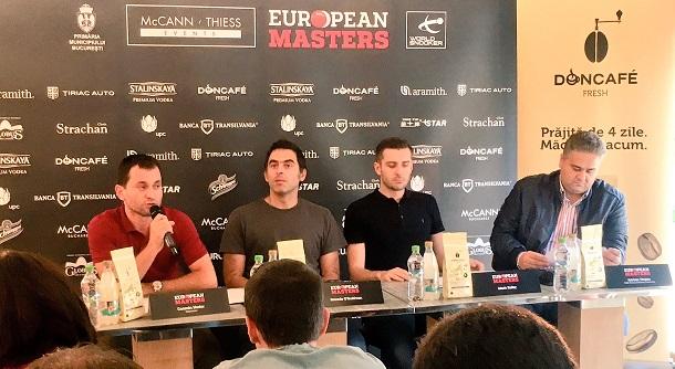 Прес конференция перед European Masters. На вопросы журналистов отвечают Ронни О'Салливан и Марк Селби