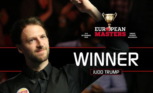 Джадд Трамп - победитель European Masters 2016