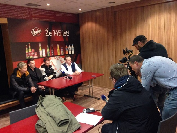 Участники мероприятия на пресс-конференции