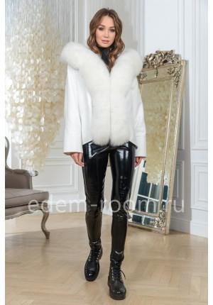 Весеннее пальто с мехом